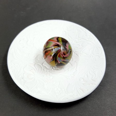 Rounded Bead from Polymer Clay by Mokume Gane Technique