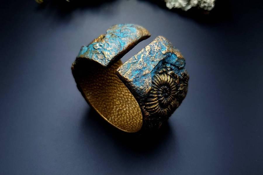 Bracelet Cuff Ammonites img04