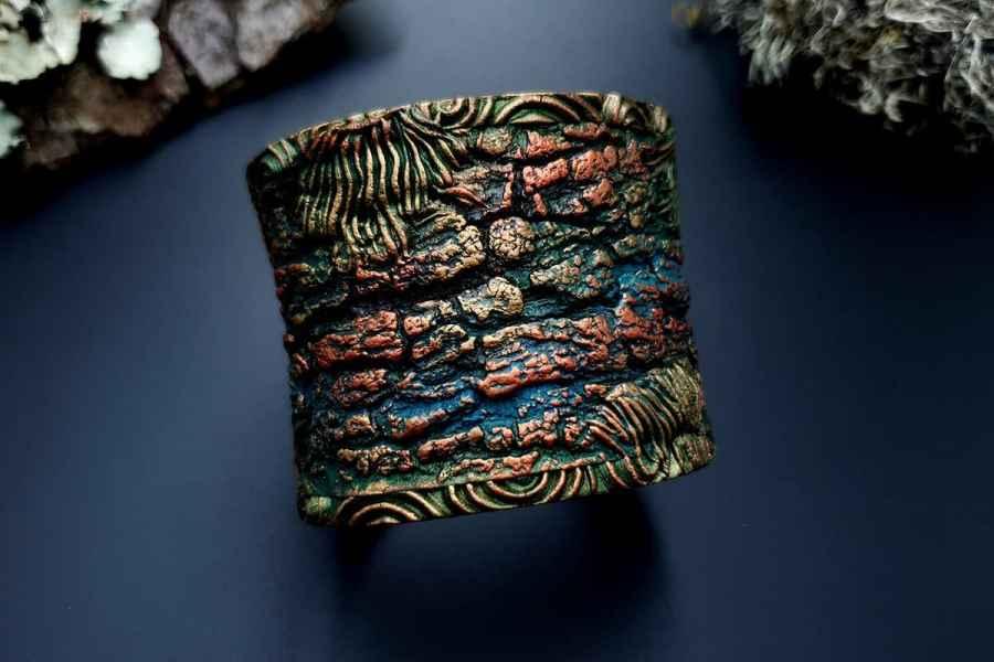 Bracelet Cuff Forest Treasure 20191012_134425