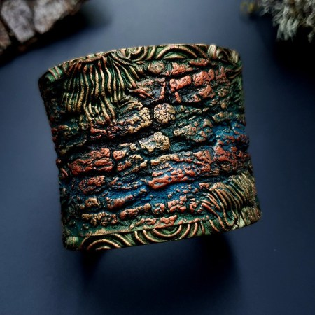 Bracelet Cuff Forest Treasure