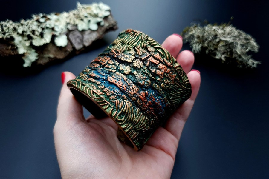 Bracelet Cuff Forest Treasure 20191012_135457
