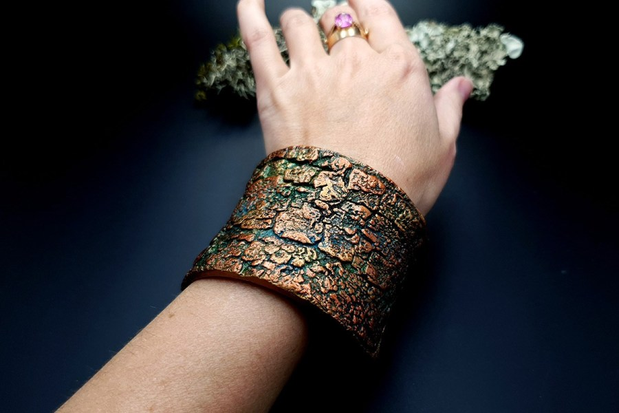 Bracelet Cuff Tree Bark img10