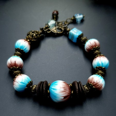Bracelet from Polymer Clay in Millefiori Technique