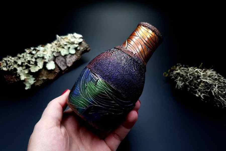 Faux Raku Style Vase 20191012_211323