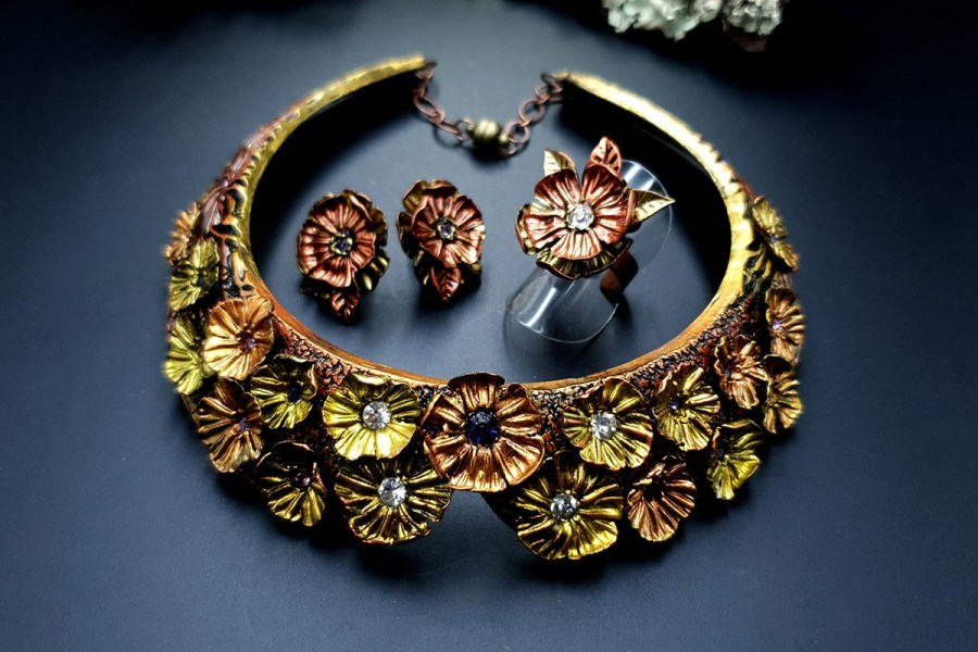 Flowers in Metal 2 Jewelry Set 20191011_135807