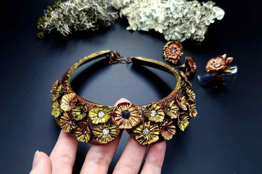 Flowers in Metal 2 Jewelry Set 20191011_135919