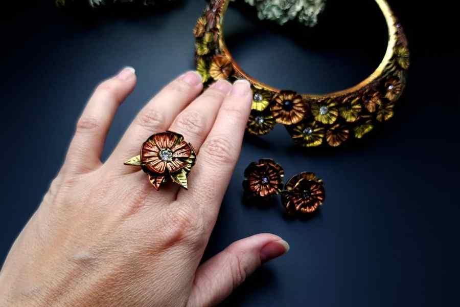 Flowers in Metal 2 Jewelry Set 20191011_140055