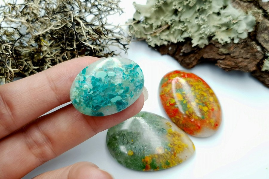 Polymer Clay Moss Agate Set 01 p08