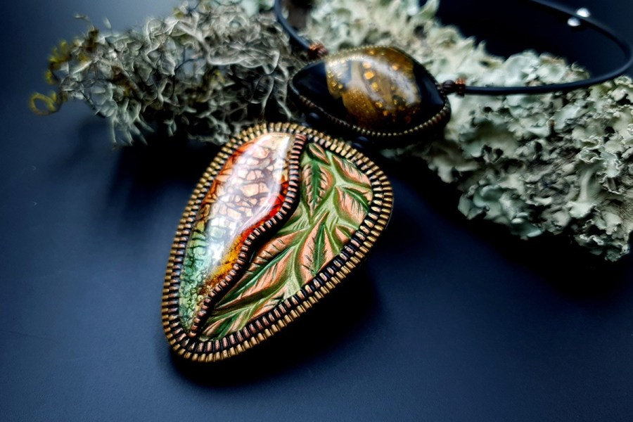 Polymer Clay Necklace 20191009_163735