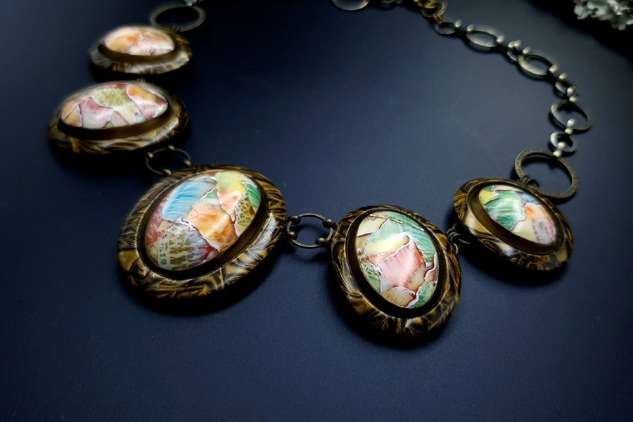 Polymer Clay Necklace 20191011_135146