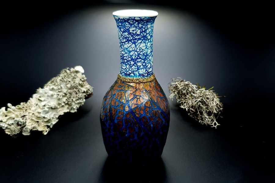 Polymer Clay Vase Raku Style 20191012_212546