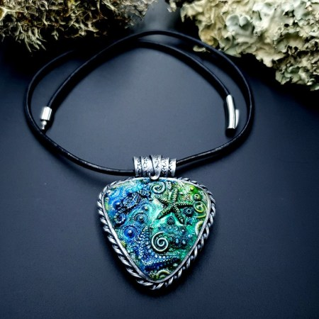 """Polymer clay Pendant """"Under the Sea"""""""