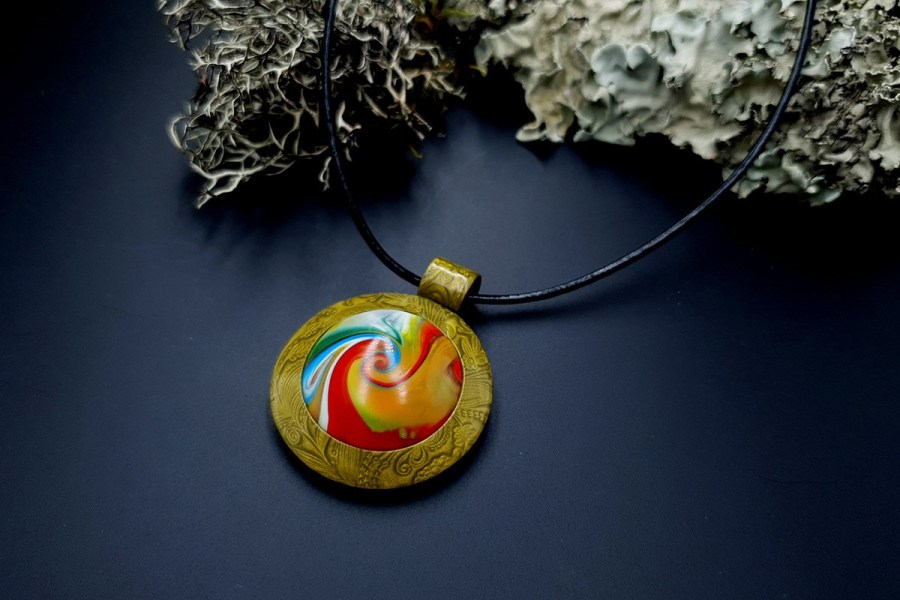 Polymer clay Pendant 20191009_203807