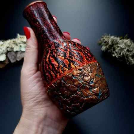 Polymer clay Vase Volcano Lava