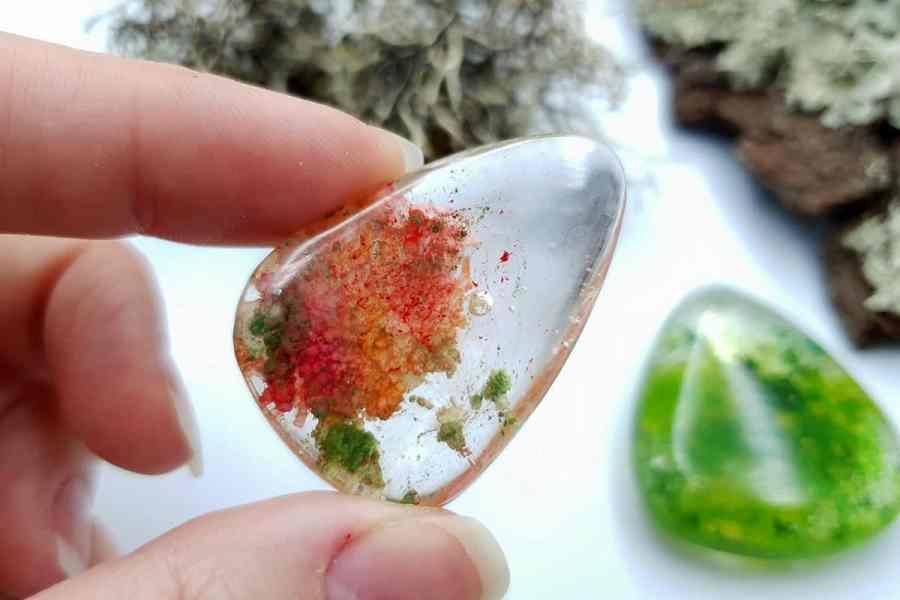 UV Resin Faux Moss Agate Faux Lodolite Quartz Set 03 p07