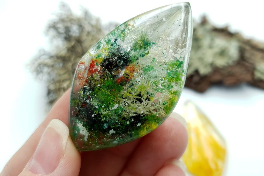 UV Resin Faux Moss Agate Faux Rutilated Quartz Set 02 p06