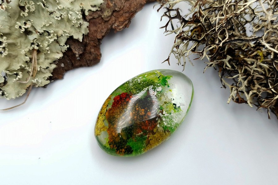 UV Resin Faux Moss Agate Set 01 p02