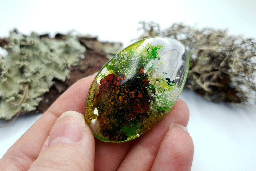 UV Resin Faux Moss Agate Set 01 p04
