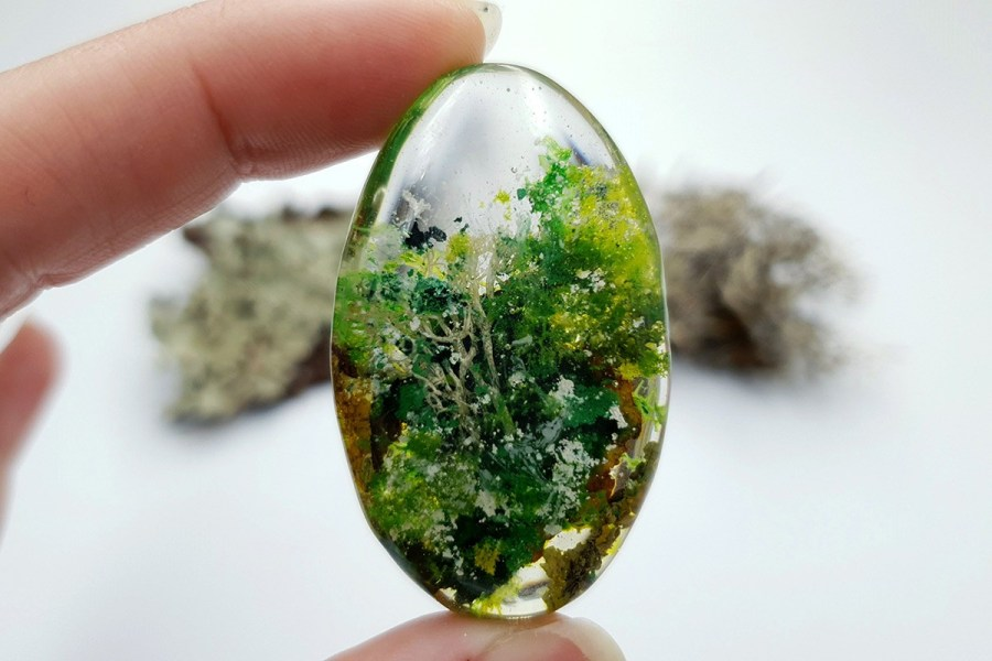 UV Resin Faux Moss Agate Set 01 p05