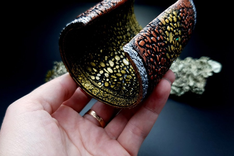 Wide Bracelet Cuff River Stones img07