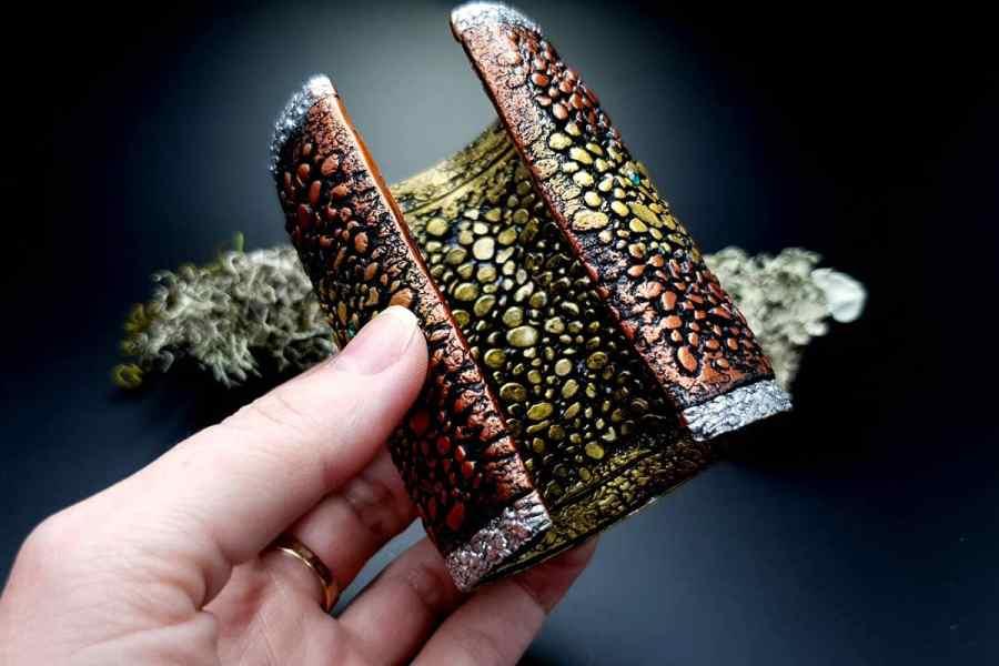Wide Bracelet Cuff River Stones img08
