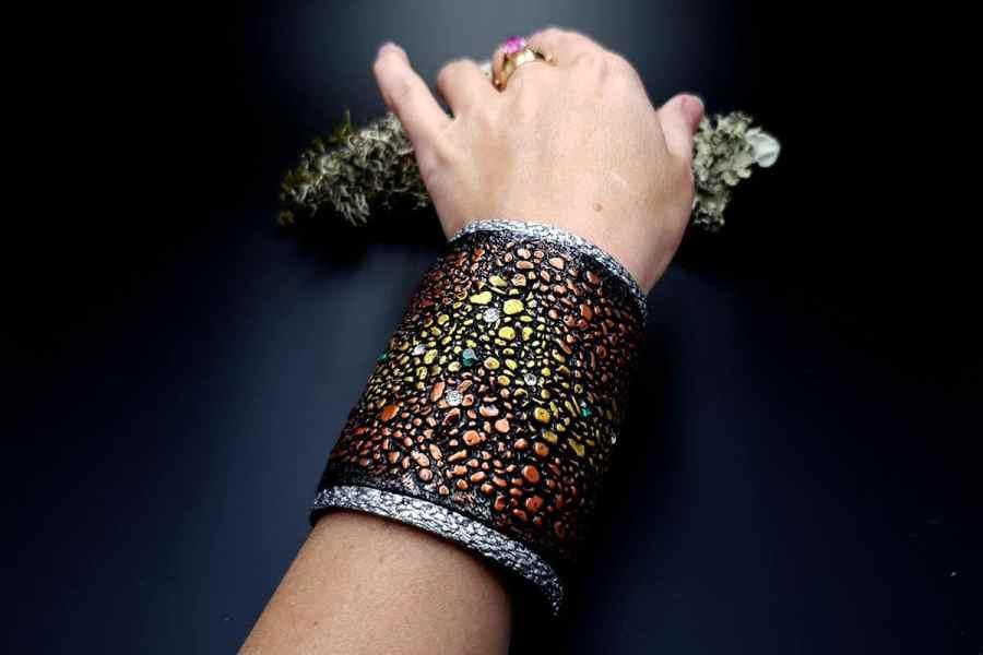 Wide Bracelet Cuff River Stones img10
