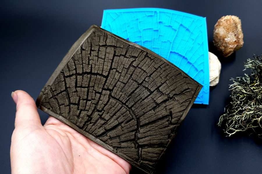 Silicone Texture Cracked Wood - 110x85mm 6