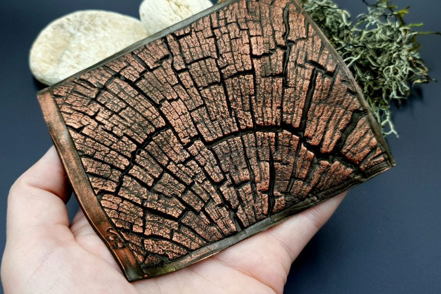 Silicone Texture Cracked Wood - 110x85mm 2