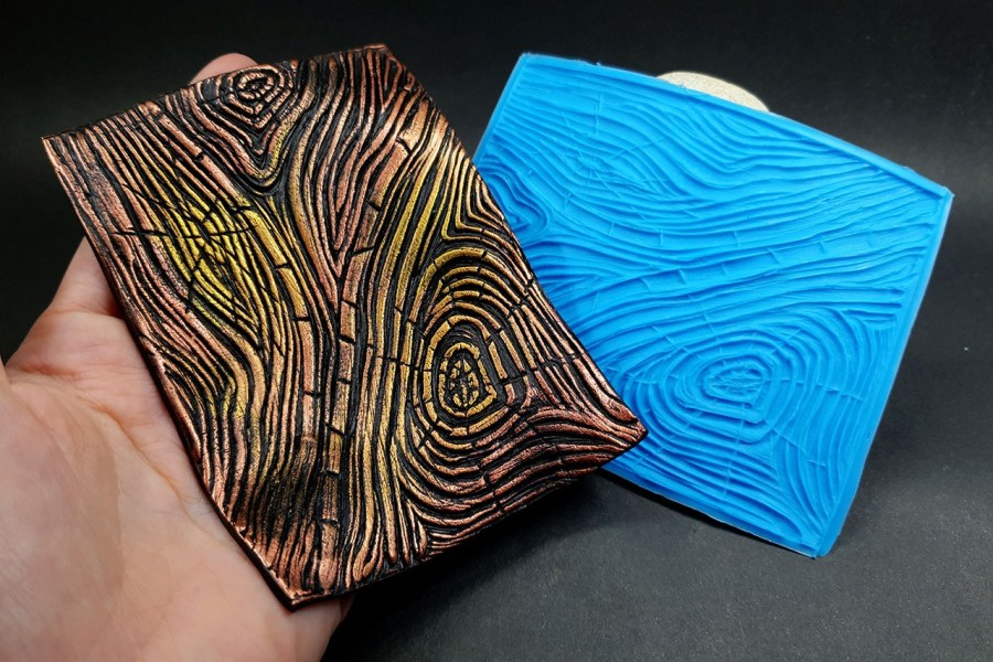 Silicone Texture Wood Grain #1 - 108x83mm 1