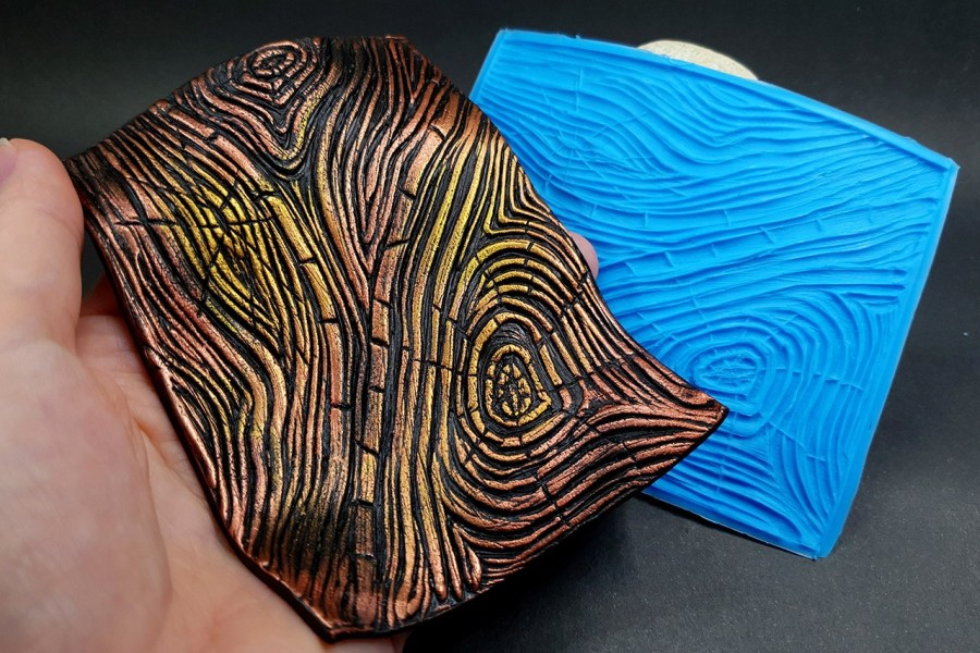 Silicone Texture Wood Grain #1 - 108x83mm 9