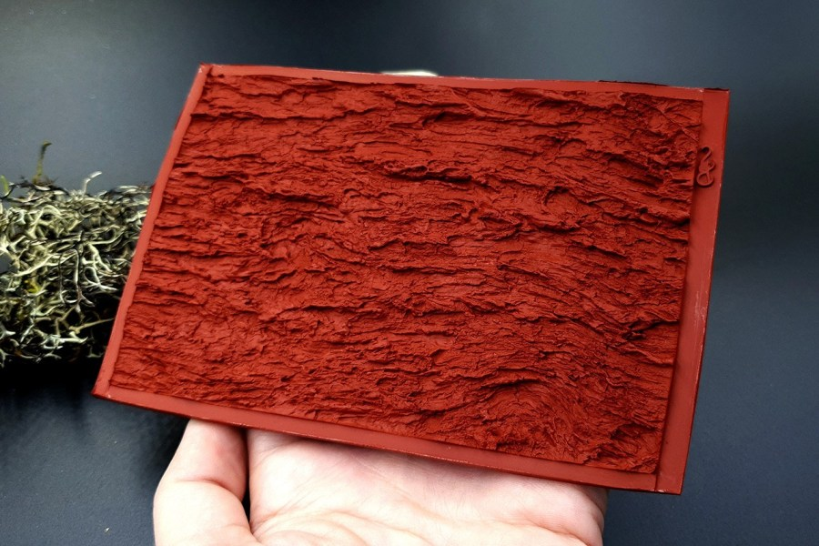 Silicone Texture Bark of Thai Pine Tree #1 - 135x90mm