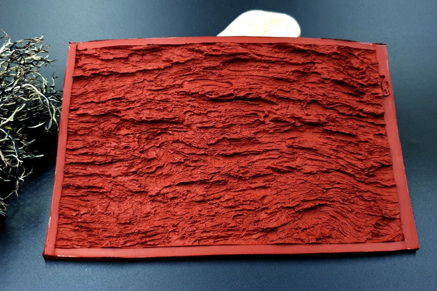 Silicone Texture Bark of Thai Pine Tree #1 - 135x90mm 7