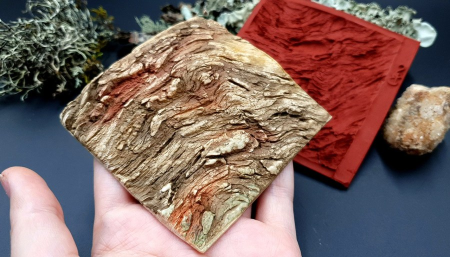 Silicone Texture Drift Wood #2 - 95x90mm 5