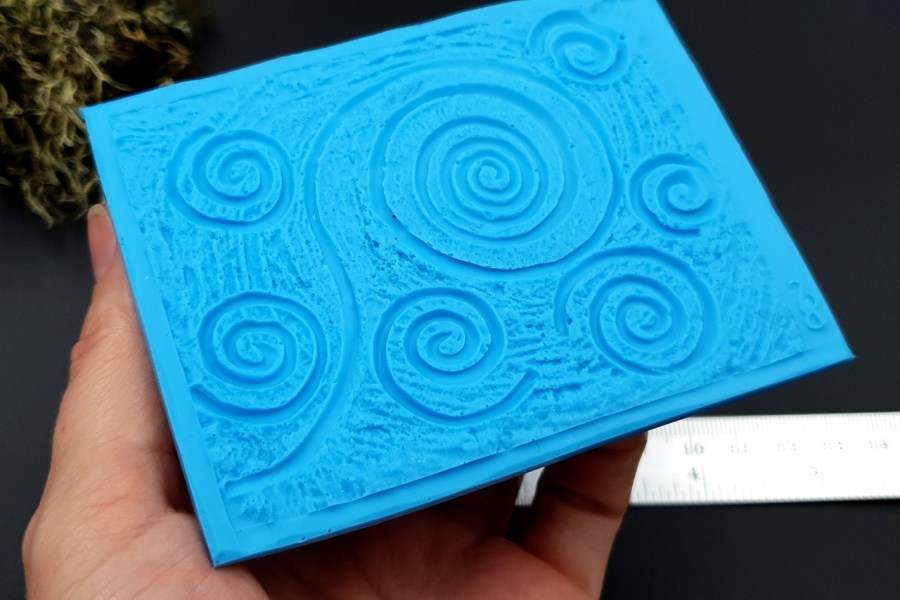 Silicone Texture Starry Night - 100x78mm 5