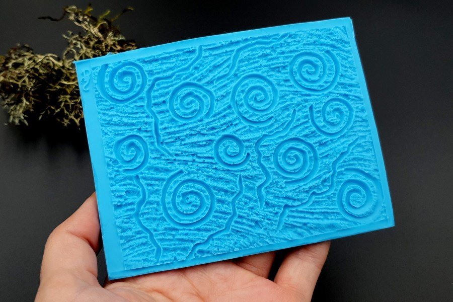 Silicone Texture Art Swirls - 111x85mm 1