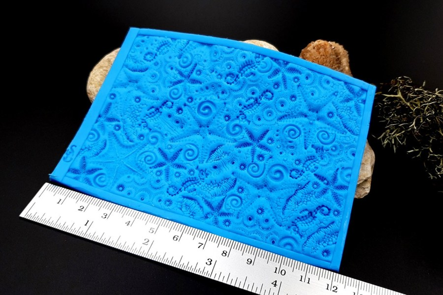 Silicone Texture OUT Oceans Fauna - 120x85mm