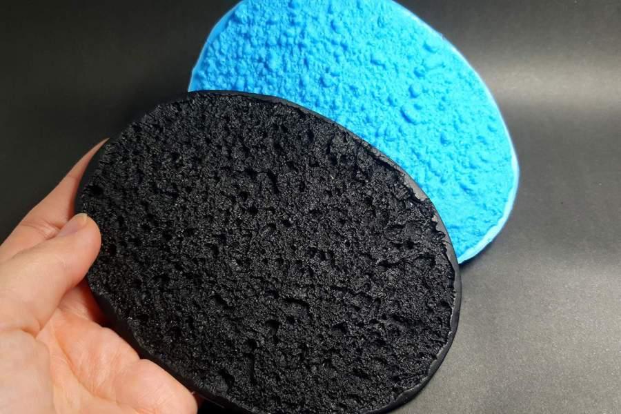 Silicone Texture Lava Stone - 140x92mm 3