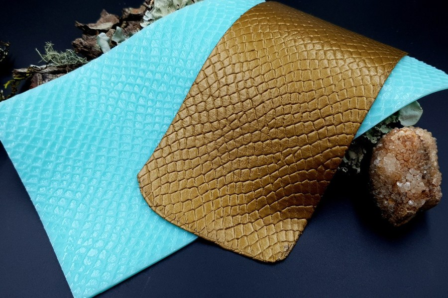 Silicone Texture Snake Skin Leather - 190x100mm 5