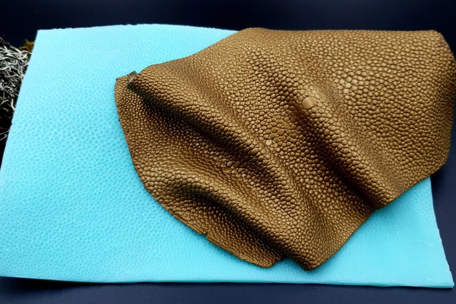 Silicone Texture Stingray Skin Leather - 180x115mm 1