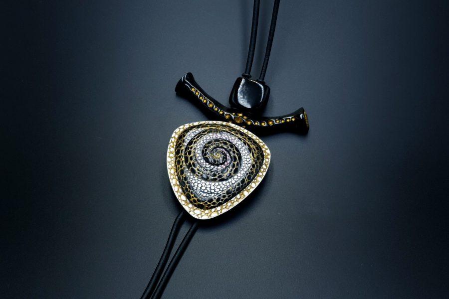 Yin-Yang Swirl Pendant - Triangle Style 1