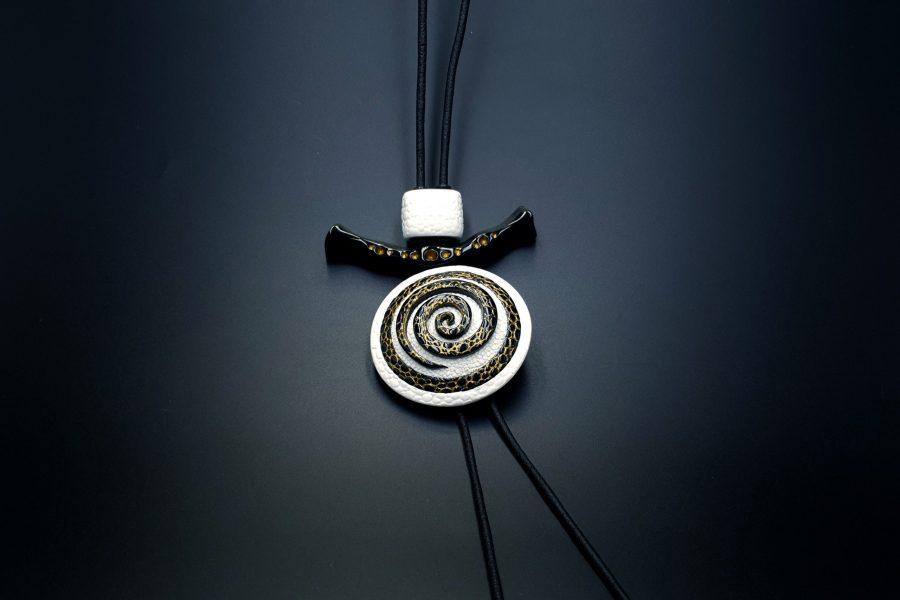 Yin-Yang Swirl Pendant - Cosmic Infinity 1