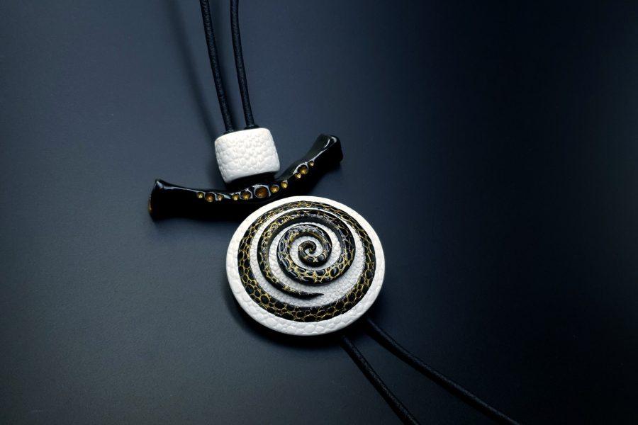 Yin-Yang Swirl Pendant - Cosmic Infinity 5