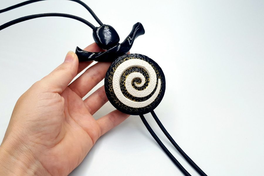 Yin-Yang Swirl Long Pendant - Infiniti of Perfection 4