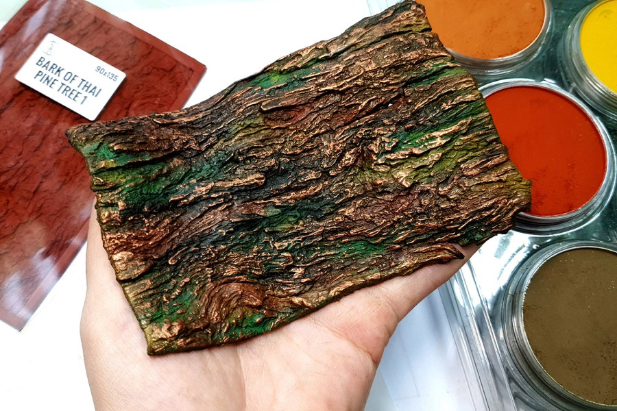Silicone Texture Bark of Thai Pine Tree #1 - 135x90mm 4