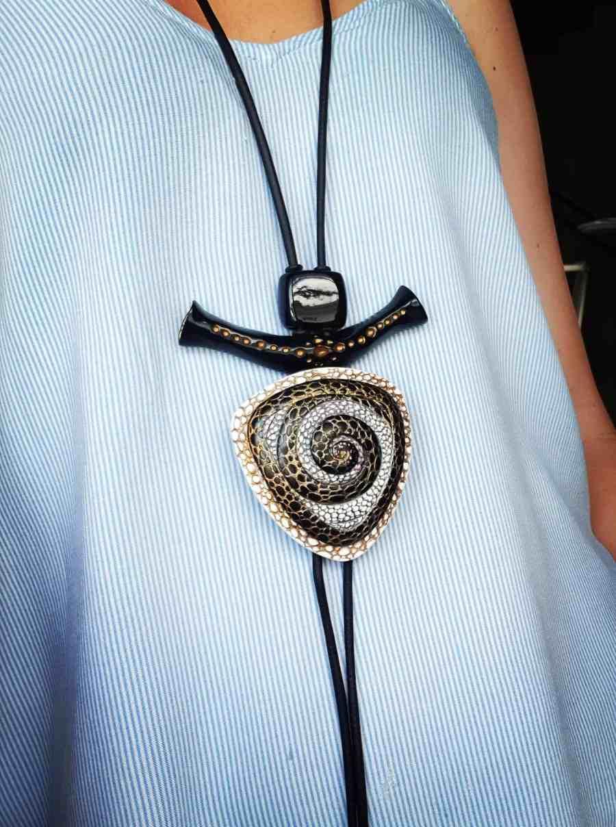 Yin-Yang Swirl Pendant - Triangle Style 5