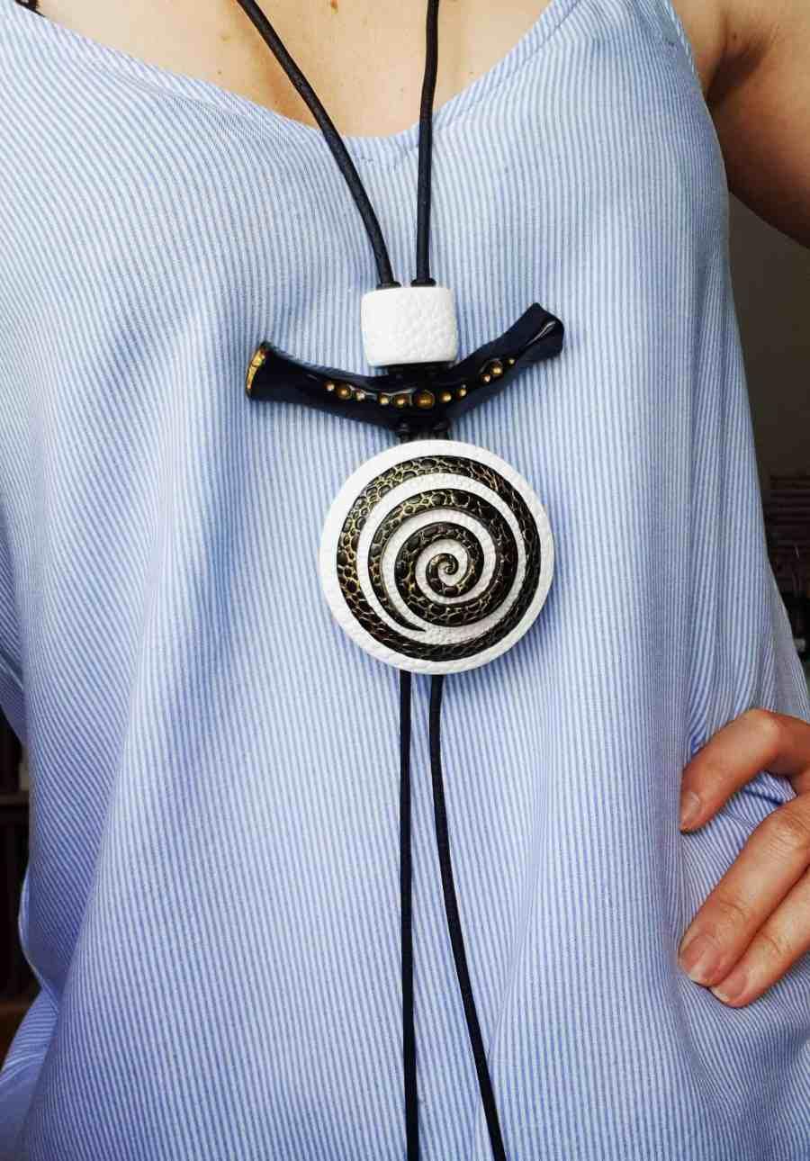 Yin-Yang Swirl Pendant - Cosmic Infinity 10