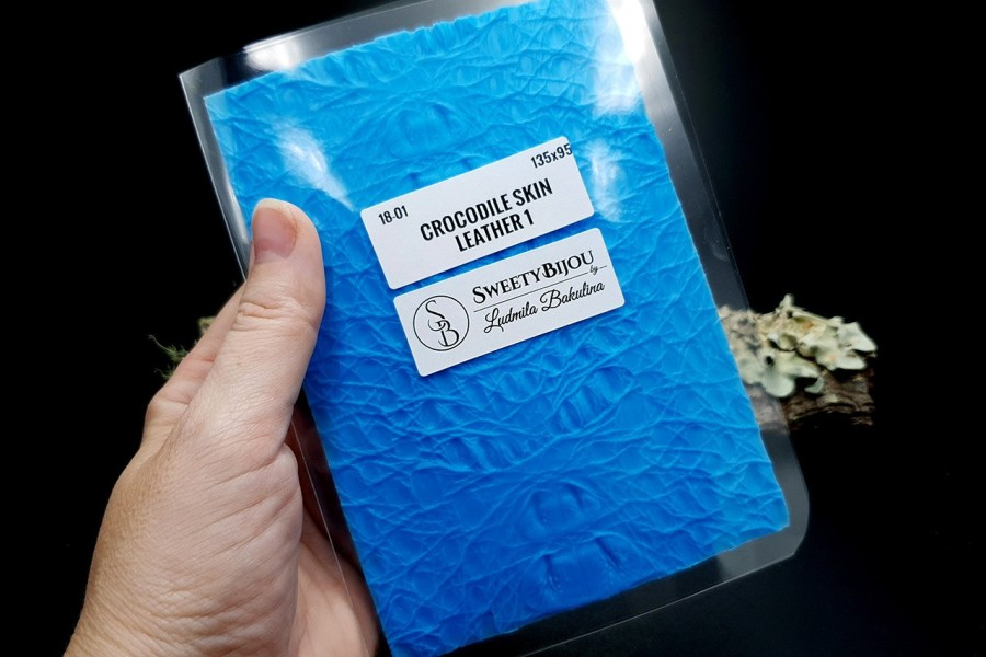 Crocodile Skin Leather 1 - Silicone Texture, Small Size 7