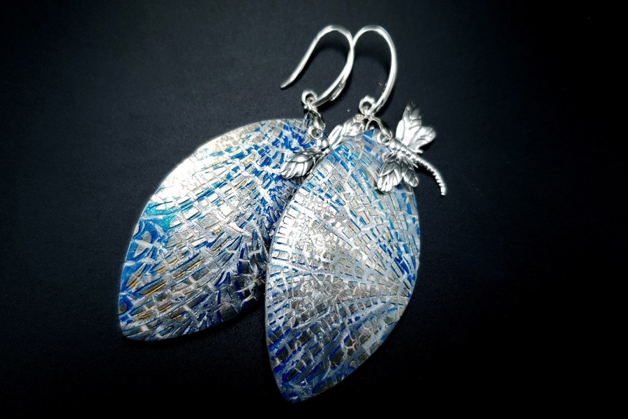 Earrings Dragonfly and Ice 11