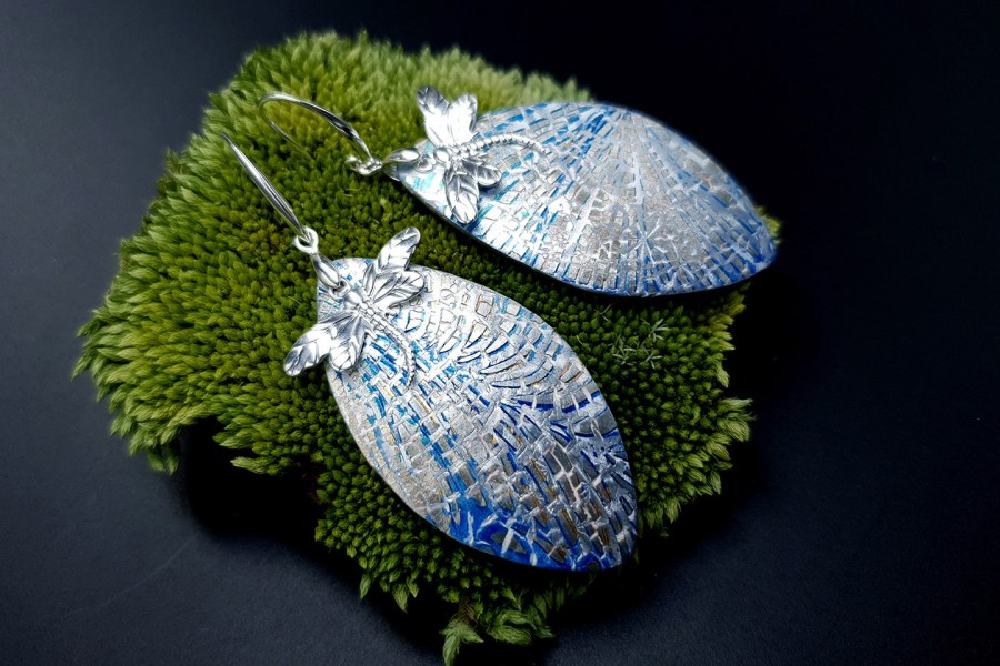 Earrings Dragonfly and Ice 4