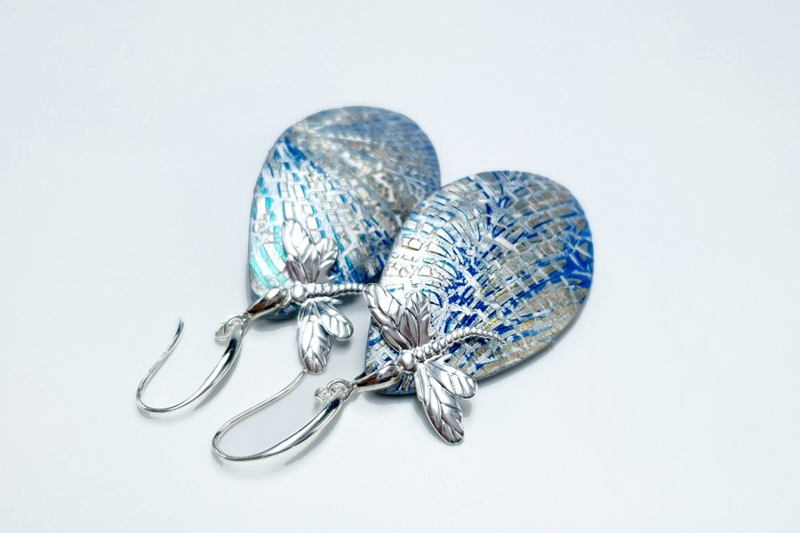 Earrings Dragonfly and Ice 10